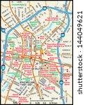 san antonio  texas downtown map   Shutterstock .eps vector #144049621
