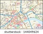 st. paul  minnesota downtown map   Shutterstock .eps vector #144049624