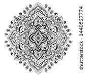 indian rug tribal ornament... | Shutterstock .eps vector #1440527774
