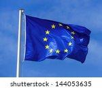 the european union flag blowing ...