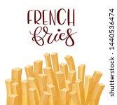 french fries. roasted potato... | Shutterstock .eps vector #1440536474