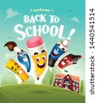 back to school  funny cute... | Shutterstock .eps vector #1440541514