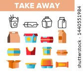 take away food vector thin line ... | Shutterstock .eps vector #1440551984