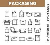 packaging types vector thin... | Shutterstock .eps vector #1440552011