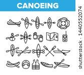 canoeing  active rest vector... | Shutterstock .eps vector #1440552074