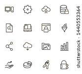 file storage icon set.... | Shutterstock .eps vector #1440553364
