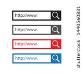 set www search bar icons on a... | Shutterstock .eps vector #1440560831