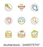 restaurant icons  monoline... | Shutterstock .eps vector #1440575747