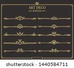 set of art deco gold... | Shutterstock .eps vector #1440584711