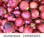 fresh red onions as organic...   Shutterstock . vector #1440602651