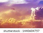 yellow orange sundown light on... | Shutterstock . vector #1440604757