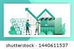 small business loans. roadside... | Shutterstock .eps vector #1440611537