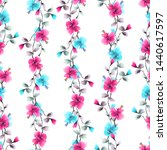 seamless pattern small wild... | Shutterstock . vector #1440617597