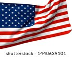3d illustration a waving flag... | Shutterstock . vector #1440639101