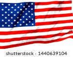 3d illustration a waving flag... | Shutterstock . vector #1440639104