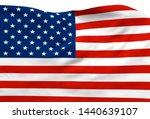 3d illustration a waving flag... | Shutterstock . vector #1440639107