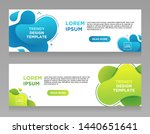 set vector abstract liquid... | Shutterstock .eps vector #1440651641