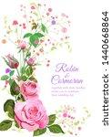 wedding vertical angled frame ...   Shutterstock .eps vector #1440668864