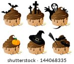halloween cakes with chocolate...