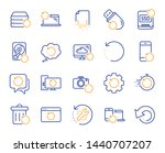 recovery line icons. backup ... | Shutterstock .eps vector #1440707207