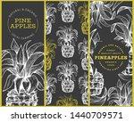 set of tree pineapple banner...   Shutterstock .eps vector #1440709571