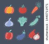 vector cartoon illustration of... | Shutterstock .eps vector #1440711971