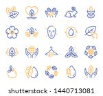 organic cosmetics line icons.... | Shutterstock .eps vector #1440713081
