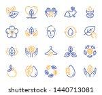 organic cosmetics line icons.... | Shutterstock .eps vector #1440713081