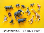 African animals in plastic. the ...