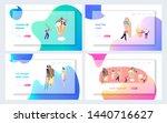 summer cafe website landing... | Shutterstock .eps vector #1440716627