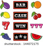 slot machine symbols | Shutterstock .eps vector #144072175
