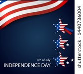 happy independence day card... | Shutterstock .eps vector #1440736004