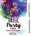 music note design element... | Shutterstock .eps vector #1440753371