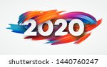 happy new year 2020. lettering... | Shutterstock .eps vector #1440760247