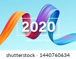 happy new year 2020. lettering... | Shutterstock .eps vector #1440760634