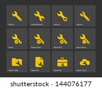 repair wrench icons. vector...