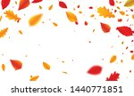 Autumn Falling Leaves Banner On ...