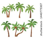 palm  and coconut trees... | Shutterstock .eps vector #1440775307