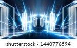 dark tunnel  corridor. neon... | Shutterstock . vector #1440776594