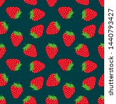 juicy red strawberry on the...   Shutterstock .eps vector #1440793427