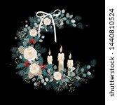 vector vintage christmas... | Shutterstock .eps vector #1440810524