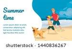 Summer Time Banner. Cartoon...