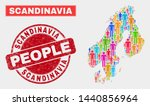 demographic scandinavia map... | Shutterstock .eps vector #1440856964