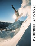 snowboarding off a cliff off... | Shutterstock . vector #144087319
