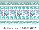 ethnic design. ikat seamless... | Shutterstock .eps vector #1440879887