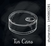 vector illustration of tin cans ... | Shutterstock .eps vector #1440882281
