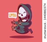 reaper running vector... | Shutterstock .eps vector #1440882374