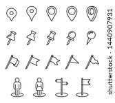 pin location mark sign icon set ... | Shutterstock .eps vector #1440907931