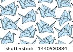 seamless pattern with hand... | Shutterstock .eps vector #1440930884