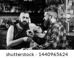 friday relax in pub. friends... | Shutterstock . vector #1440965624